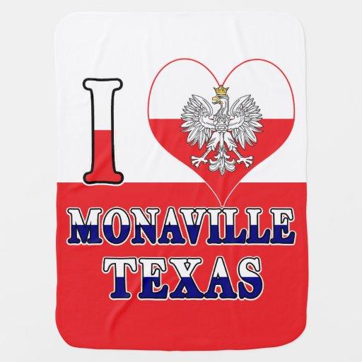 I Heart Love Monaville Texas Baby Blanket