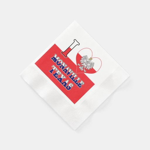 I Heart Love Monaville Texas Disposable Napkin