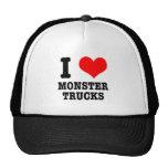 I HEART (LOVE) monster trucks Cap