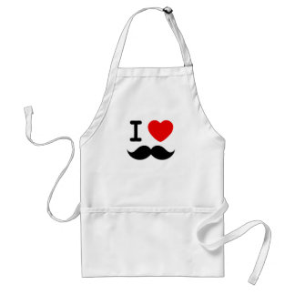 I heart / Love Moustaches / Mustaches Standard Apron