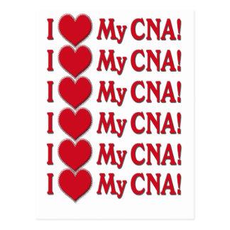 I Heart / LOVE My CNA - CERTIFIED NURSE ASSISTANT Postcard