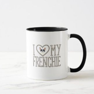 I Heart Love My Frenchie Mug