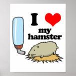 I Heart (Love) My Hamster Poster