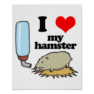 I Heart (Love) My Hamster Poster