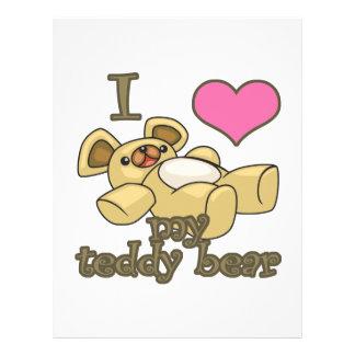I Heart Love My Teddy Bear Custom Flyer