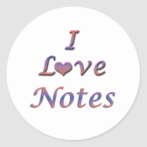 I Heart (Love) Notes Stickers