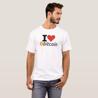 I Heart (Love) Original Bitcoin Logo Symbol Tshirt