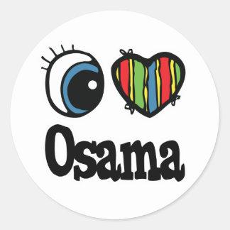 I Heart (Love) Osama Sticker