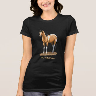 I Heart (Love) Paint Horses Buckskin Pinto T-Shirt