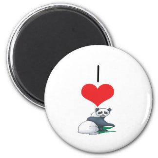 I Heart Love Panda Bears Magnet