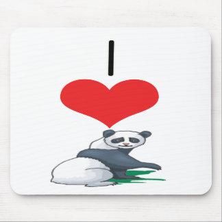 I Heart Love Panda Bears Mouse Mat