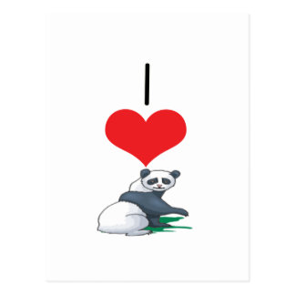 I Heart Love Panda Bears Postcards