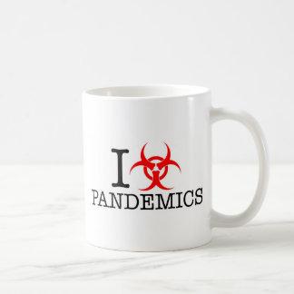 I Heart Love Pandemics Basic White Mug