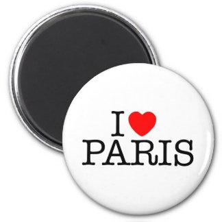 I heart (love) Paris 6 Cm Round Magnet