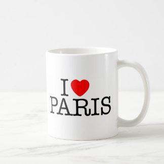 I heart (love) Paris Basic White Mug