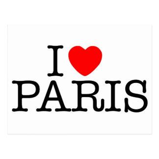 I heart (love) Paris Postcard