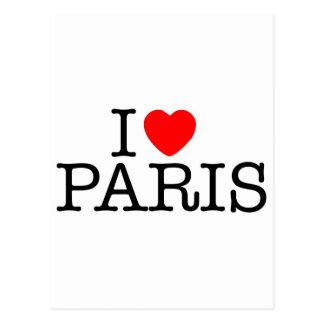I heart love Paris Postcard