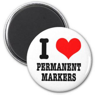 I HEART LOVE PERMANENT MARKERS FRIDGE MAGNET