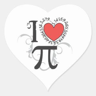 I Heart (LoVe) Pi Heart Sticker