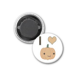 I heart (love) Pumpkin 3 Cm Round Magnet