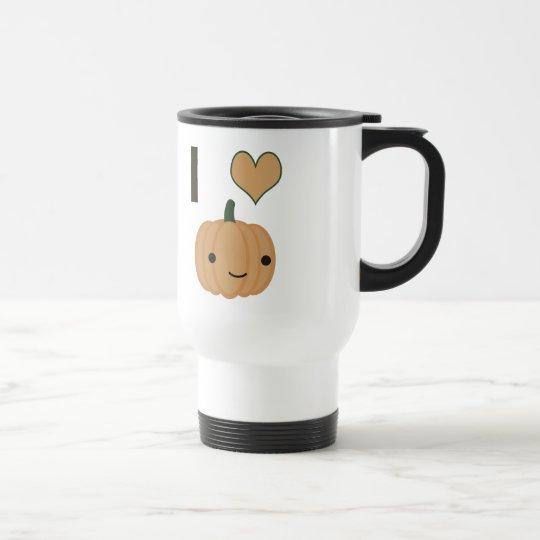 I heart (love) Pumpkin Travel Mug