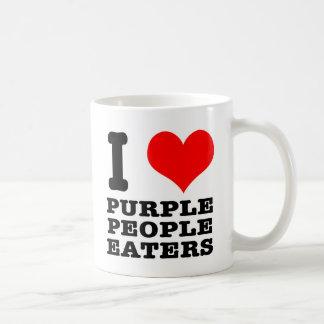 I HEART (LOVE) PURPLE PEOPLE EATER COFFEE MUG