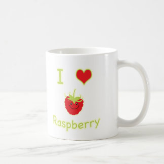 I heart (love) raspberry coffee mug