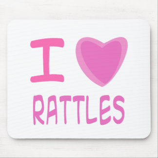 I Heart (Love) rattles Mouse Pad
