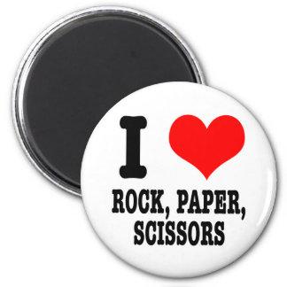 I HEART (LOVE) ROCK PAPER SCISSORS MAGNET