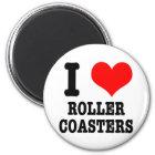 I HEART (LOVE) roller coasters Magnet