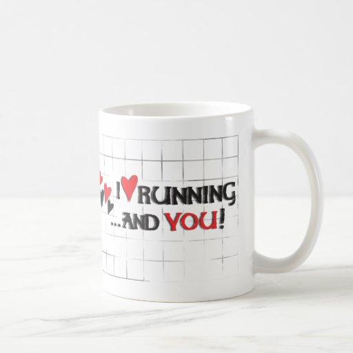 I heart (love) Running...and You! Coffee Mugs