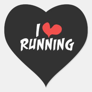 I heart (love) Running Heart Sticker