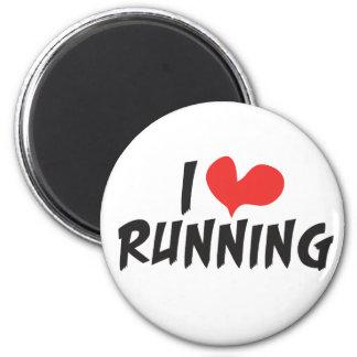 I heart love Running Refrigerator Magnet
