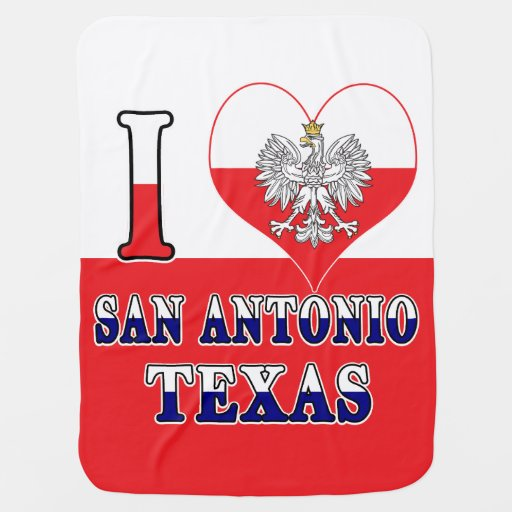 I Heart Love San Antonio Texas Baby Blanket