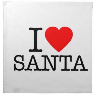 I Heart (Love) Santa Napkins