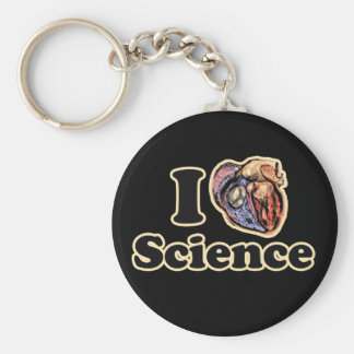 I Heart Love Science Anatomically Correct Basic Round Button Key Ring