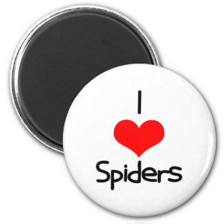 I Heart (Love) Spiders 6 Cm Round Magnet