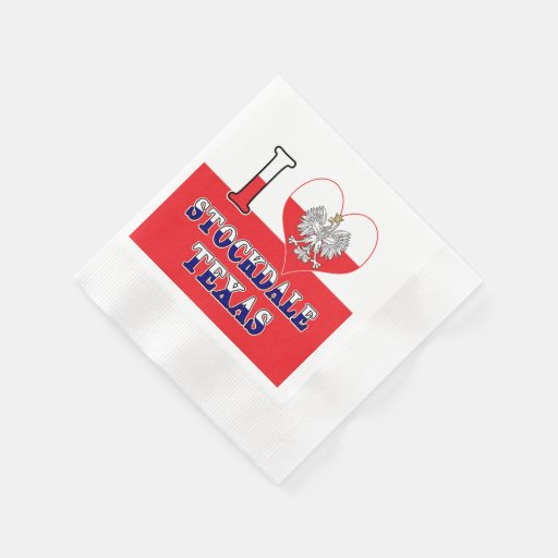 I Heart Love Stockdale Texas Disposable Napkin