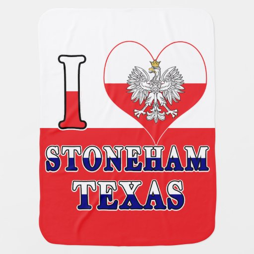 I Heart Love Stoneham Texas Baby Blanket