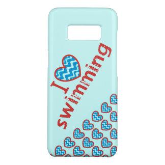I heart (love) Swimming Case-Mate Samsung Galaxy S8 Case