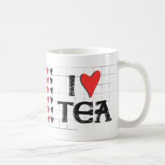 i heart (love) Tea Basic White Mug