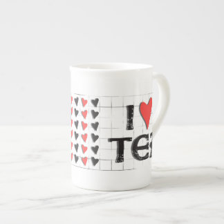 i heart (love) Tea Bone China Mug