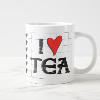 i heart (love) Tea Jumbo Large Mug