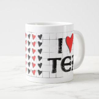 i heart (love) Tea Jumbo Large Mug Jumbo Mug