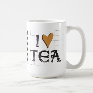 i heart (love) Tea Large Mug