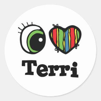I Heart (Love) Terri Round Sticker