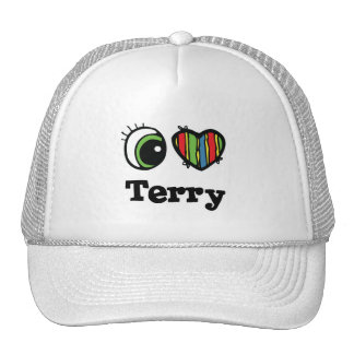 I Heart (Love) Terry Mesh Hat