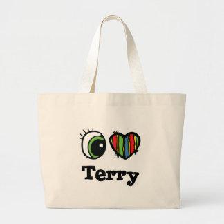 I Heart (Love) Terry Jumbo Tote Bag