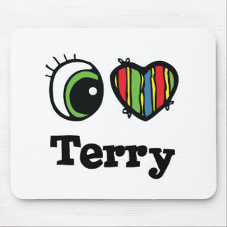 I Heart (Love) Terry Mouse Pad