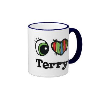 I Heart (Love) Terry Mugs